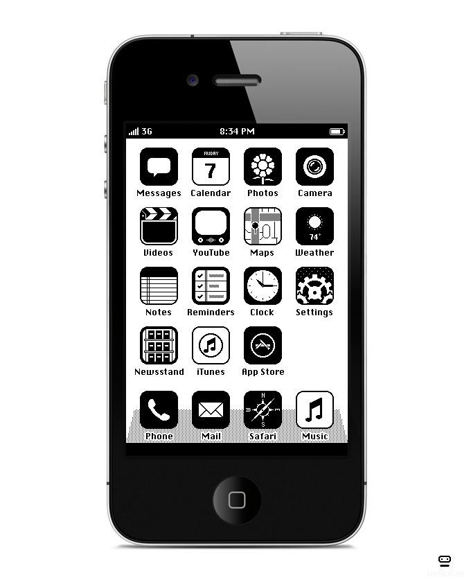 IOS 1986 איך נראים האייקונים של אייפון