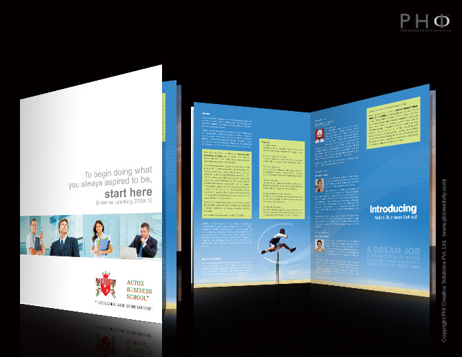 website and brochure for distance learning educational