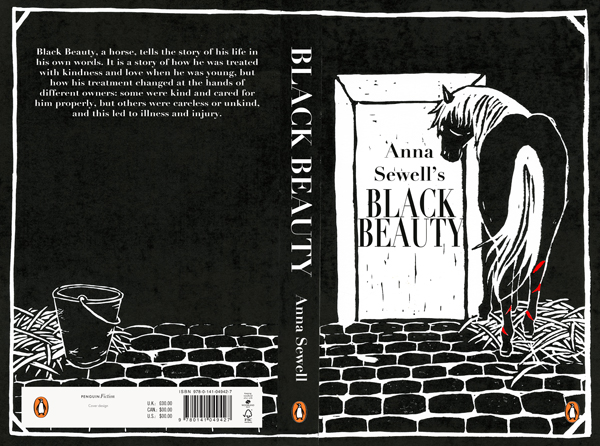 Book Cover In Black ~ Black beauty book cover sophie douglas illustration