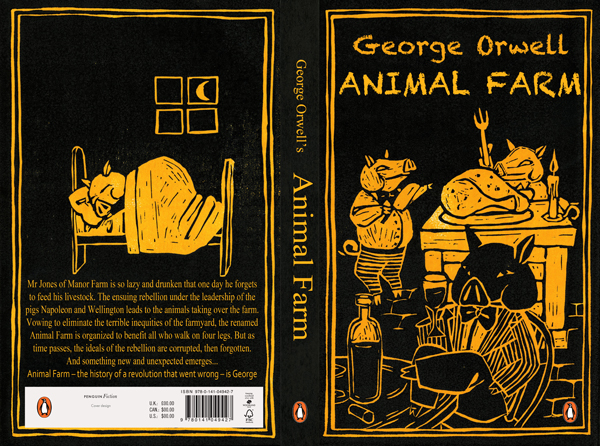 a classical example of a story filled with conflict in george orwells animal farm